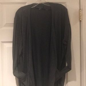 Plus size sweater in charcoal grey